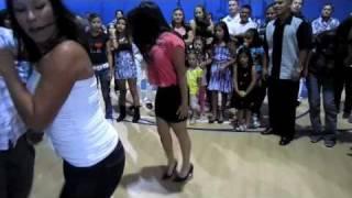 DANCE FLOOR BATTLE [SHUFFLING IN HEELS] BITCH YOU GOT OWNED! [TECHNO]