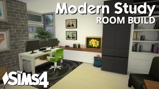 The Sims 4 Room Build - Modern Study
