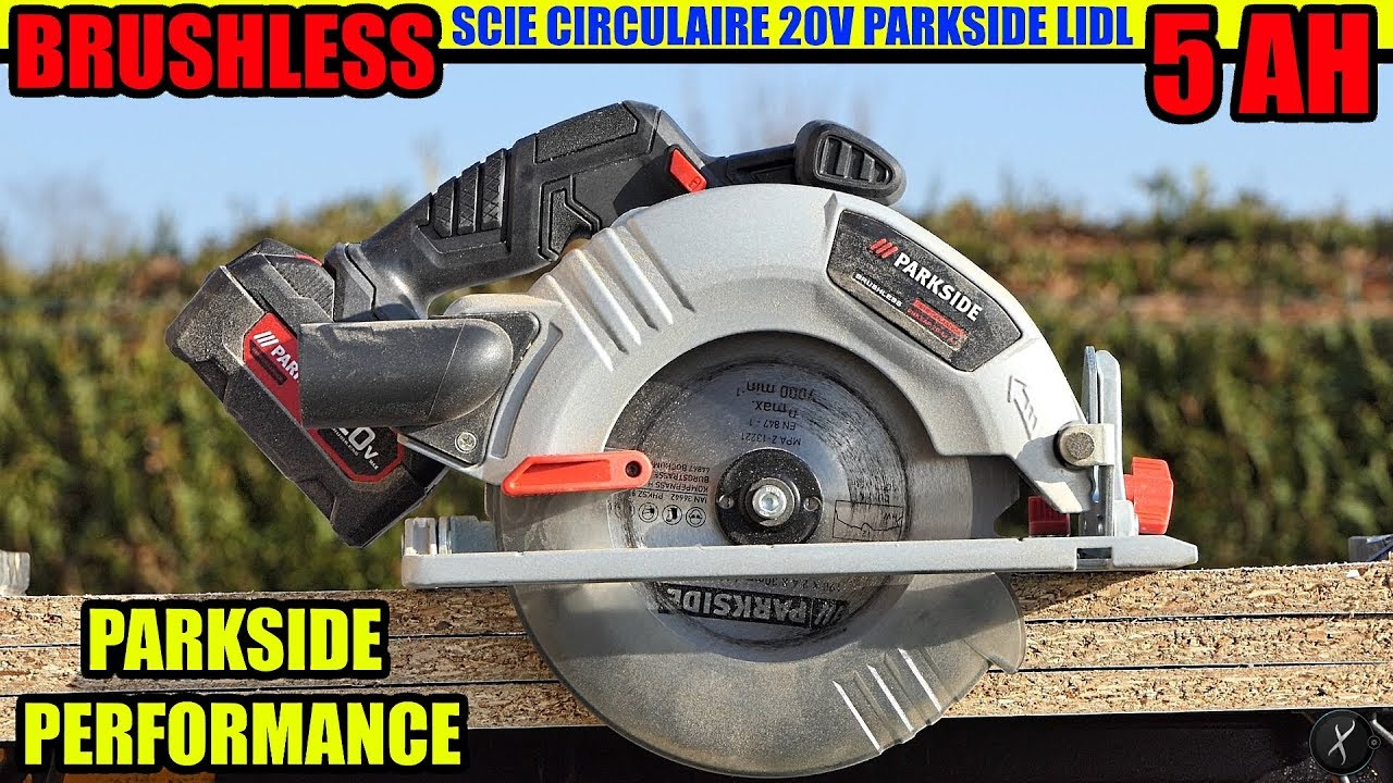 Parkside Performance Scie Circulaire 20v Brushless Circular Saw Akku Handkreissäge