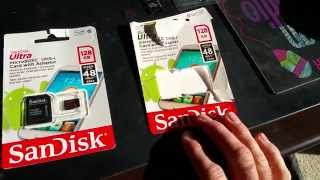 Fake Sandisk micro SD card Vs real Sandisk micro SD Card 128gig Ebay