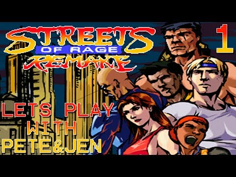 Streets Of Rage Remake V5: Route 1 On Hard - Co-Op Me (Adam) & Jen (Axel) Part 1/2