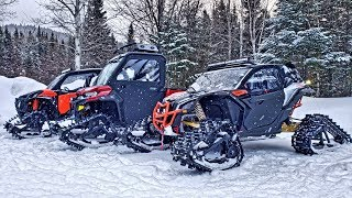 Apache Backcountry LT Tracks Are Insane! Ps. Quebec Is Beautiful!!