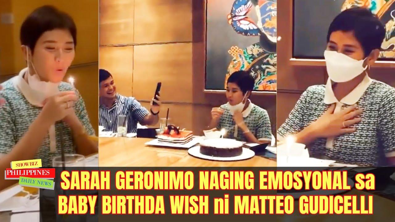 Sarah Geronimo EMOSYONAL sa BABY BIRTHDAY WISH ni Matteo Guidicelli