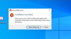 Discord : Installation Has Failed Error