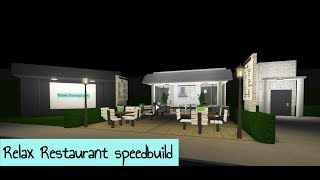 Roblox Bloxburg speedbuild | Relax Restaurant | 19k