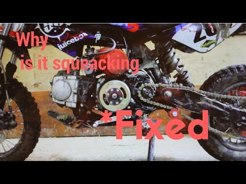 Dirt bike making rattling/squeaking noise - How to fix