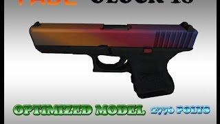 CS:GO Glock18 FADE HD skin for CS 1.6