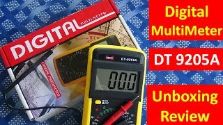 Digital Multimeter DT 9205A Review and Unboxing Video Multimeter in hindi -
