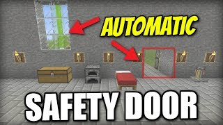 Minecraft Xbox - AUTOMATIC SAFETY DOOR - Redstone Tutorial - PE / PS4 / PS3 / Switch
