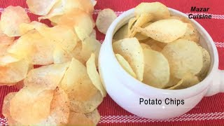 Potato Chips Recipe ,Homemade Crispy Potato Chips Recipe ,Easy Snack Potato Chips