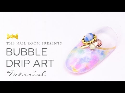 Bubble Drip Art Nail Tutorial - (www.NEIRU.me) Japanese Nail Art Tutorial [HD]