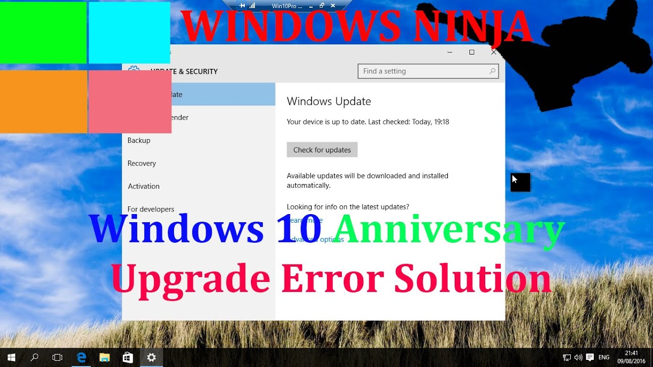 Windows 10 Anniversary Upgrade Error - Solution!