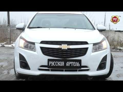 Накладки на передние фары (Реснички) Chevrolet Cruze I (russ-artel.ru)