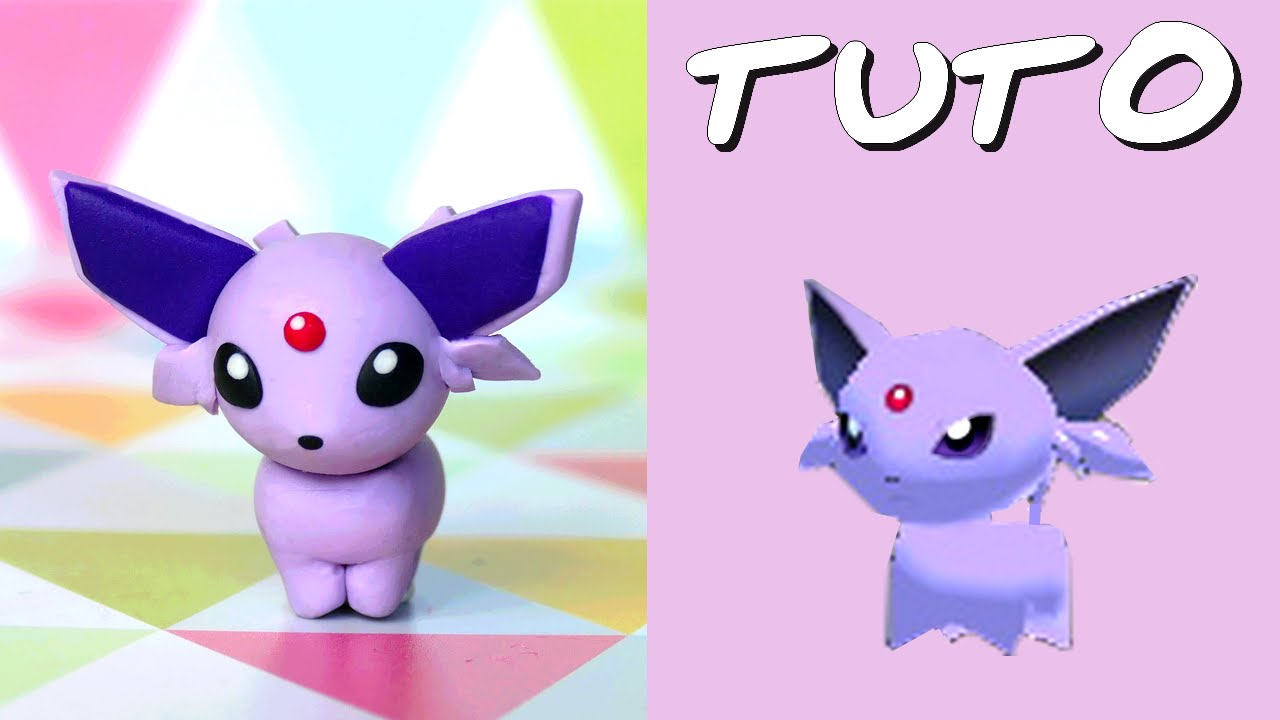 tuto fimo mentali espeon de pok mon rumble world youtube. Black Bedroom Furniture Sets. Home Design Ideas