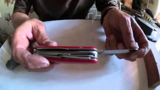 Victorinox - замена лезвия и накладок