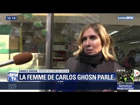 La femme de Carlos Ghosn donne des nouvelles trois jours après la sortie de prison de son mari