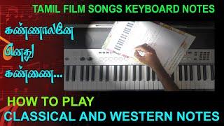 கண்ணாளனே எனது கண்ணை / WESTERN AND CLASSICAL NOTES / MY MUSIC MASTER