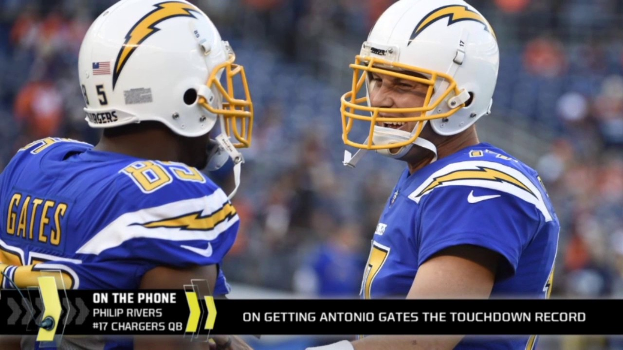 Philip Rivers on Antonio Gates career and the touchdown record