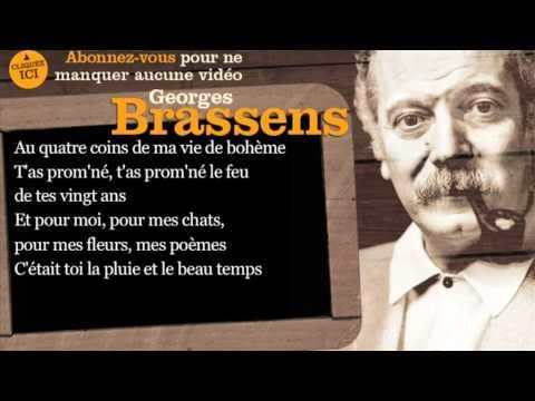 Georges Brassens - Putain de toi - Paroles ( karaoké )