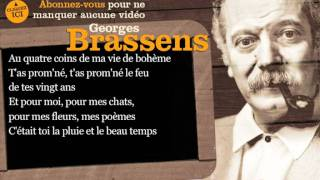 Georges Brassens - Putain de toi - Paroles ( karaoké )