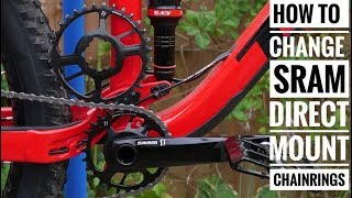How to change SRAM direct mount chainrings