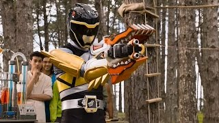 Power Rangers Dino Charge - True Black - Dino Armor X Mode Training (1080p HD)