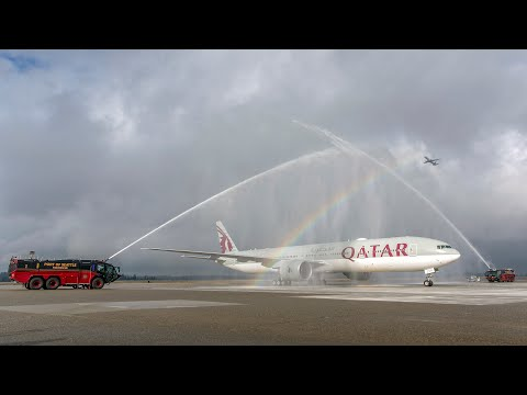 Qatar Airways' Inaugural Flight to Seattle, USA