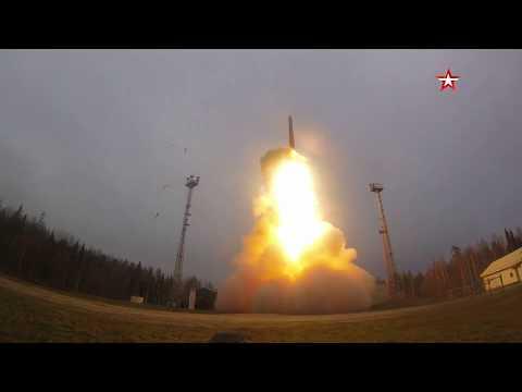 Пуск межконтинентальной ракеты «Ярс» с космодрома Плесецк