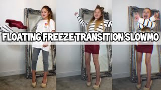 Watch me edit a floating Freeze clothes Transition Slowmo!!