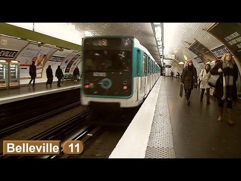 Métro de Paris : Belleville   Ligne 11 ( RATP MP59 )