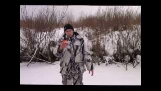 Ловля щуки на жерлицы зимой 11 января 2014г..