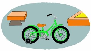 Zeichentrick-Malbuch - Verschiedene Fahrräder
