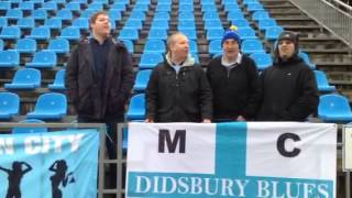 Manchester City fans singing in Moscow