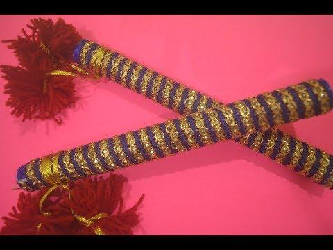 DIY Paper Dandia Sticks ||DIY|| ||ForKids|| ||Navarathri Special||