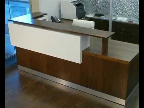 reception desk ikea - youtube