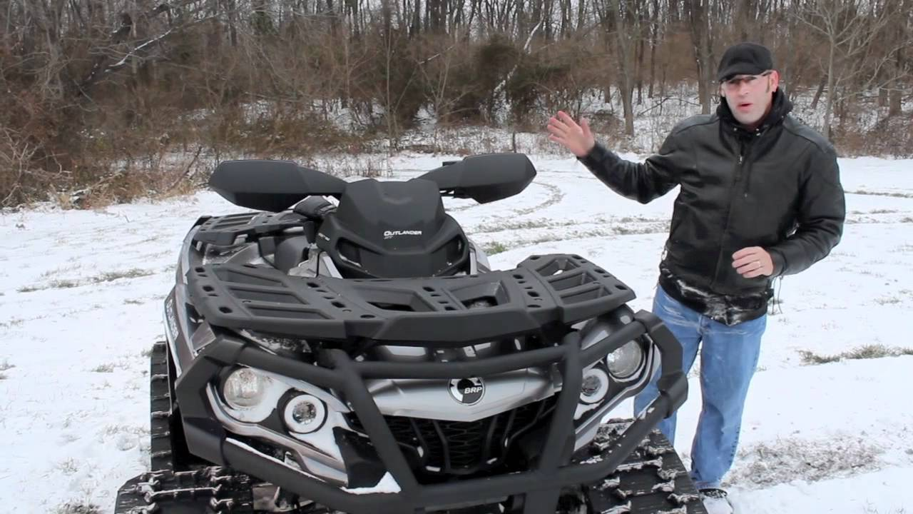 Can Am Outlander 1000 Xmr >> Apache 360 Track Kit on a Can-Am 1000 Outlander - YouTube