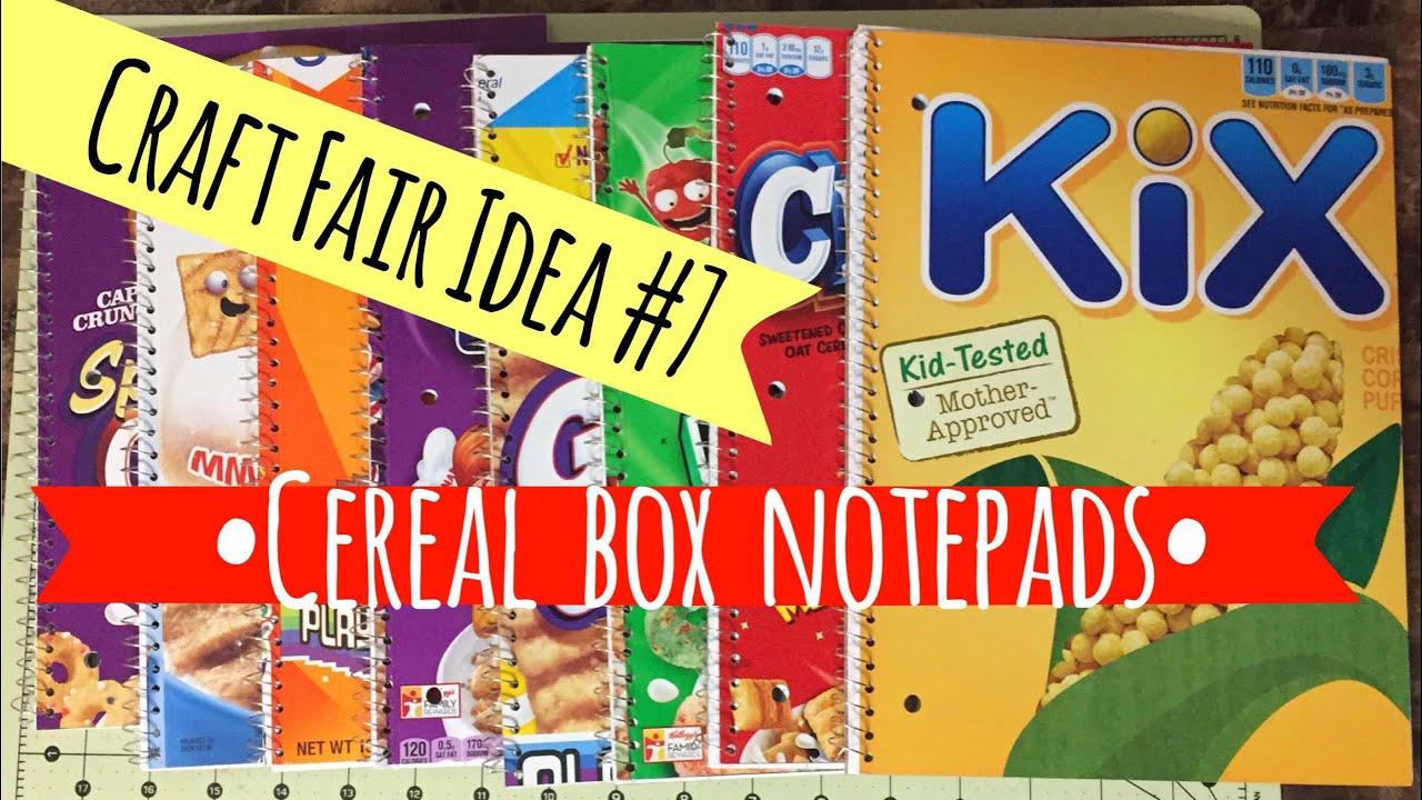 Craft fair idea 7 cereal box notebooks 2017 youtube craft fair idea 7 cereal box notebooks 2017 ccuart Gallery