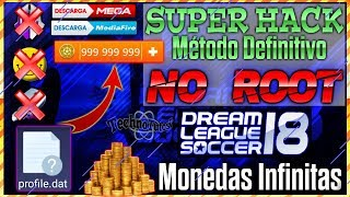 HACK MONEDAS INFINITAS DREAM LEAGUE SOCCER 2018 ⚽ FÁCIL Y RÁPIDO ⚽ 1 SÓLO ARCHIVO ⚽ NO ROOT✓✓👍