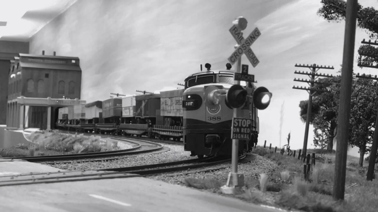 Early 1950 S Piggyback Train Missouri Pacific Trailer