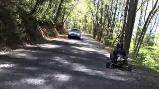 Part 1 -- Kartel Outlaw Session : Elijay, Ga. -- 3 fast gx200 go karts on the street!  Warmin Up