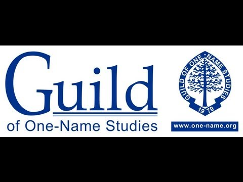 Guild of One-Name Studies YouTube Channel