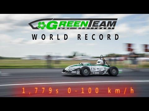 GreenTeam - World Record - 0-100km/h - 1,779s