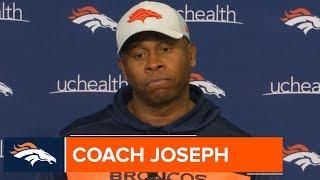 Vance Joseph Recaps Tough Run Game vs. 49ers Defense | Broncos Press Conference