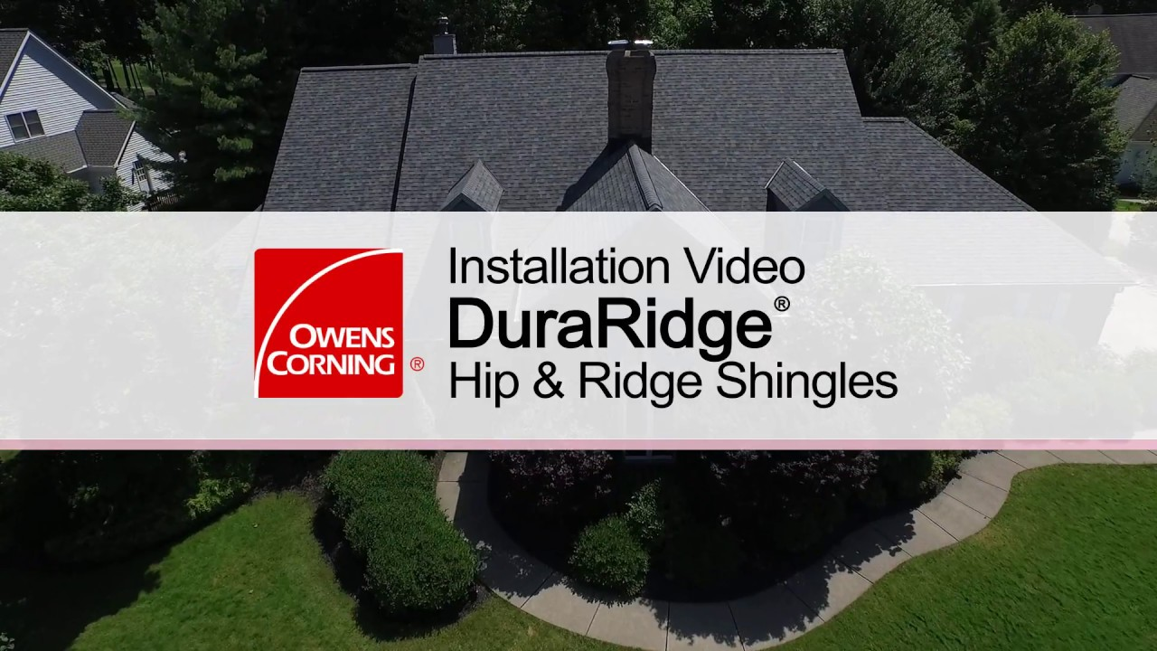 How To Install Duraridge Hip Ridge Shingles Youtube