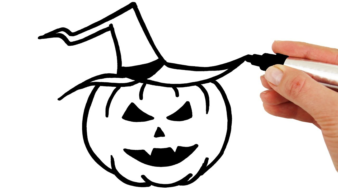 How to Draw Glitter Halloween Pumpkin for Children and Kids Coloring Pages Learn Colours for Todlers