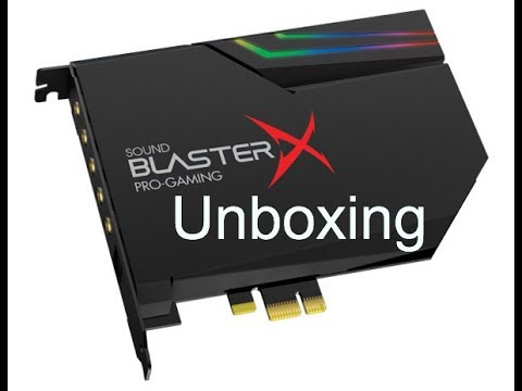 Creative Sound BlasterX AE-5 Unboxing (Pro-Gaming Sound card/DAC)