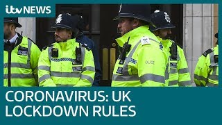 What you can and can't do during the three-week UK coronavirus lockdown | ITV News