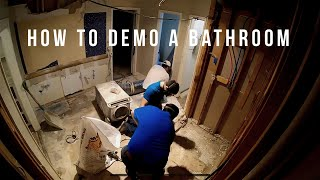 How to Demo a Bathroom Safely and With Minimal Dust
