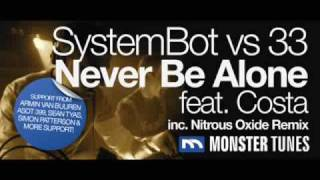SystemBot Vs 33 Feat. Costa  Never Be Alone (Nitrous Oxide Remix)