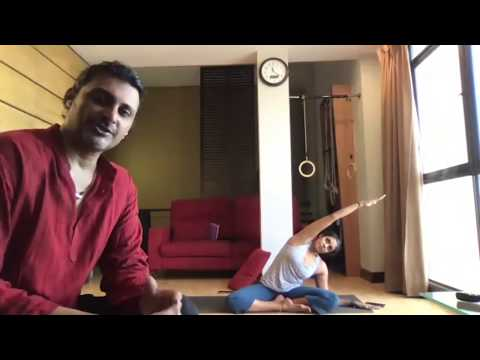20 minute Iyengar Yoga Class for Spinal Health, with Inversions Extension from YouTube · Duration:  39 minutes 55 seconds
